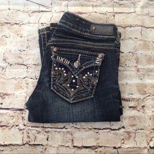 Antique Rivet boot cut embellished jeans